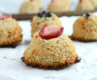 Black Bottom Coconut Macaroons