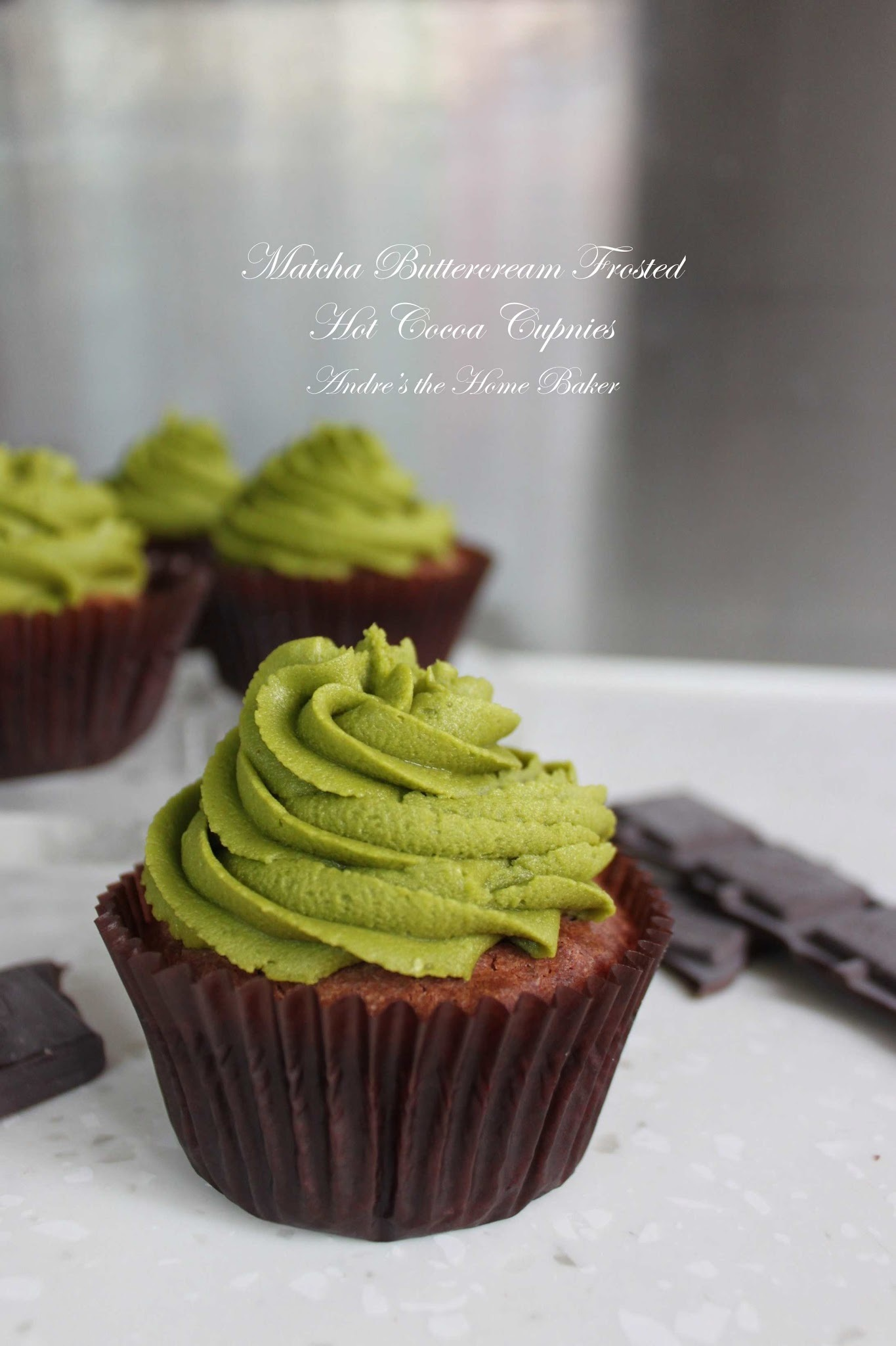 ♥ Matcha Buttercream Frosted Hot Cocoa Cupnies ♥
