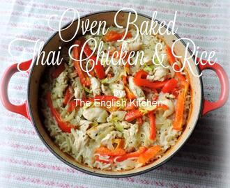 Oven Baked Thai Chicken and Rice