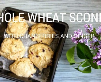 WHOLE WHEAT SCONES WITH CRANBERRIES AND GINGER
