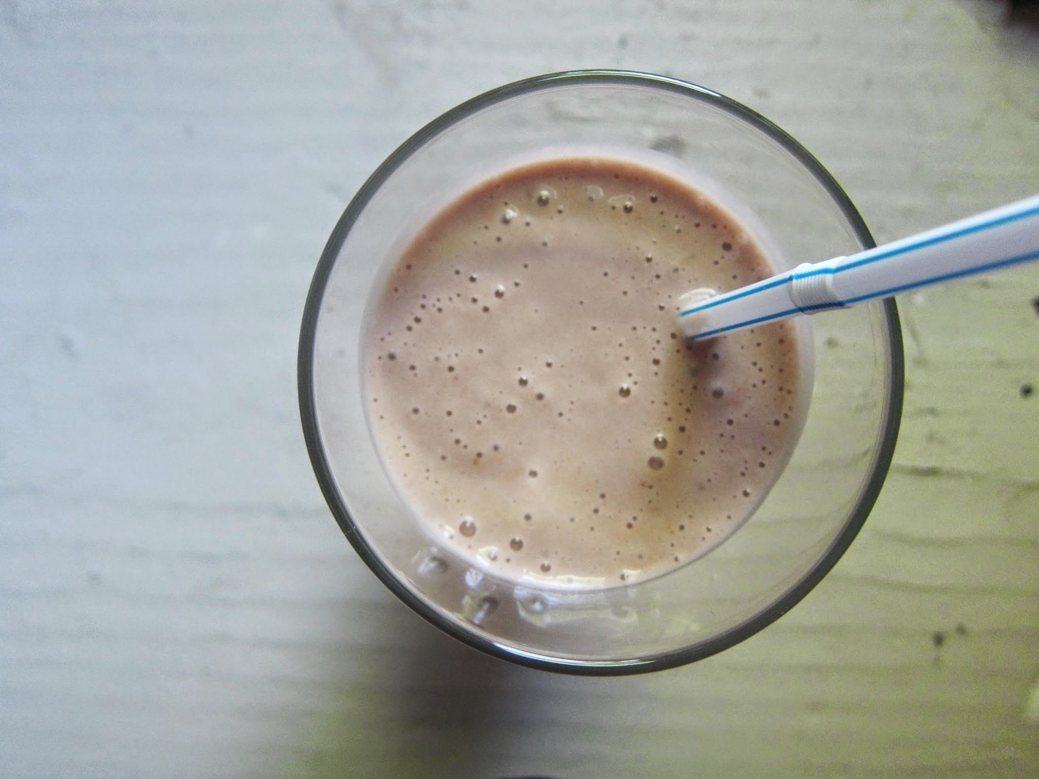 Nutella, Banana, and Peanut Butter Smoothie