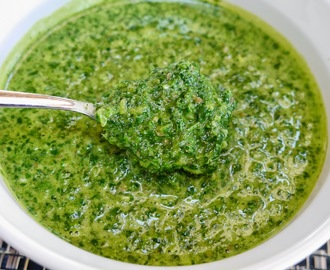 Chimichurri Sauce With Fresh Cilantro, Parsley, And JalapeñoRaw Vegan And Gluten Free
