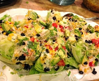 Southwest Wedge Salad with Cilantro Ranch Dressing