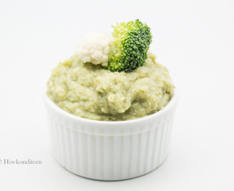 Broccoli-Cauliflower Puree with Parmesan
