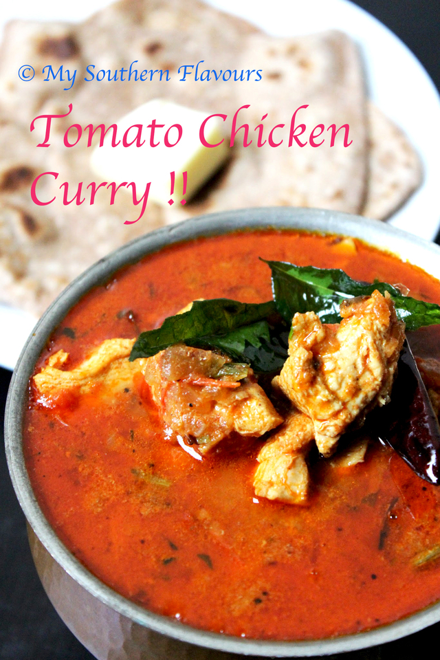 Spicy Tomato Chicken Curry !!