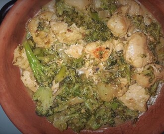 Straccetti di Pollo con Broccoli in salsa di Yougurt al Curry