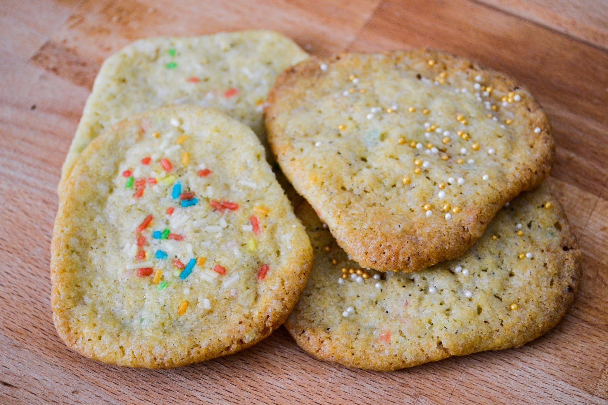 White Chocolate Sprinkle Cookies