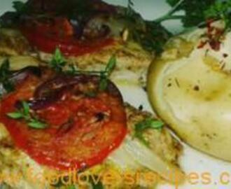 DENZY'S TOMATO, ONION AND THYM OVEN BAKED SNOEK RECIPE