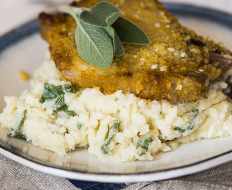 Crumbed Pork Chops with Apple Sage Mash