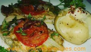 DENZY'S TOMATO ONION AND THYME OVEN BAKED SNOEK