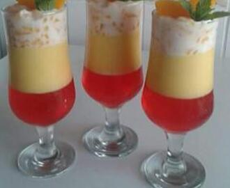 DENZY'S PEACHES AND JELLY DESSERT