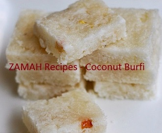 Kobbari Burfi |Coconut Sweet Indian food Recipe
