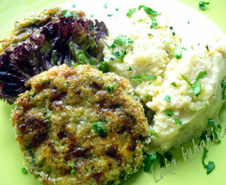 Ćuftice od tikvica s pireom od prosa i cvjetače :: Zucchini patties with millet and cauliflower mas