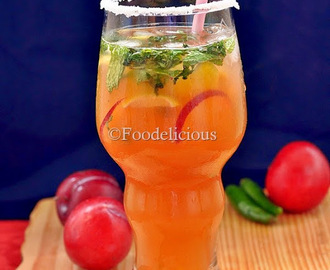 Virgin Peach-Plum-Chilli Mojito For Sparkling Himalayan Mocktail Contest | Mocktail | Summer Drink