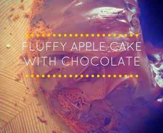 FLUFFY APPLE CAKE WITH CHOCOLATE