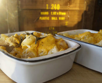 Chicken, butternut and sage pasta bake