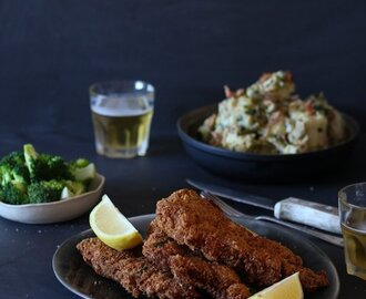 bitsofcarey wrote a new post, Pork Schnitzels with German Potato Salad, on the site Bits of Carey
