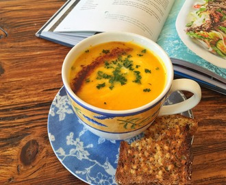 Spicy Sweet Potato, Leek & Apple Soup