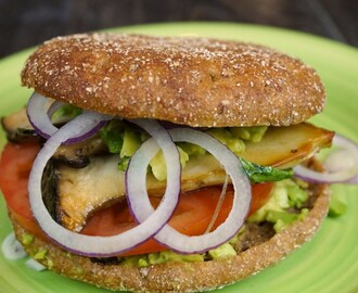 Avocado-Pilz-Burger vegan