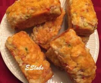 ESME'S CORNED BEEF, SPRING ONION AND CHEDDAR MINI LOAFS