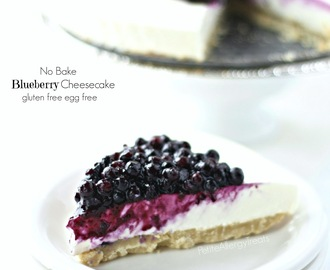 Blueberry Cheesecake (No Bake Eggless Gluten Free)