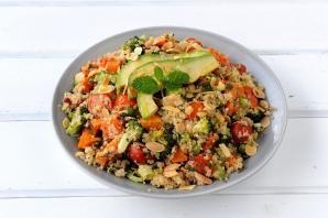 Roasted Vegetable and Avo Quinoa Salad