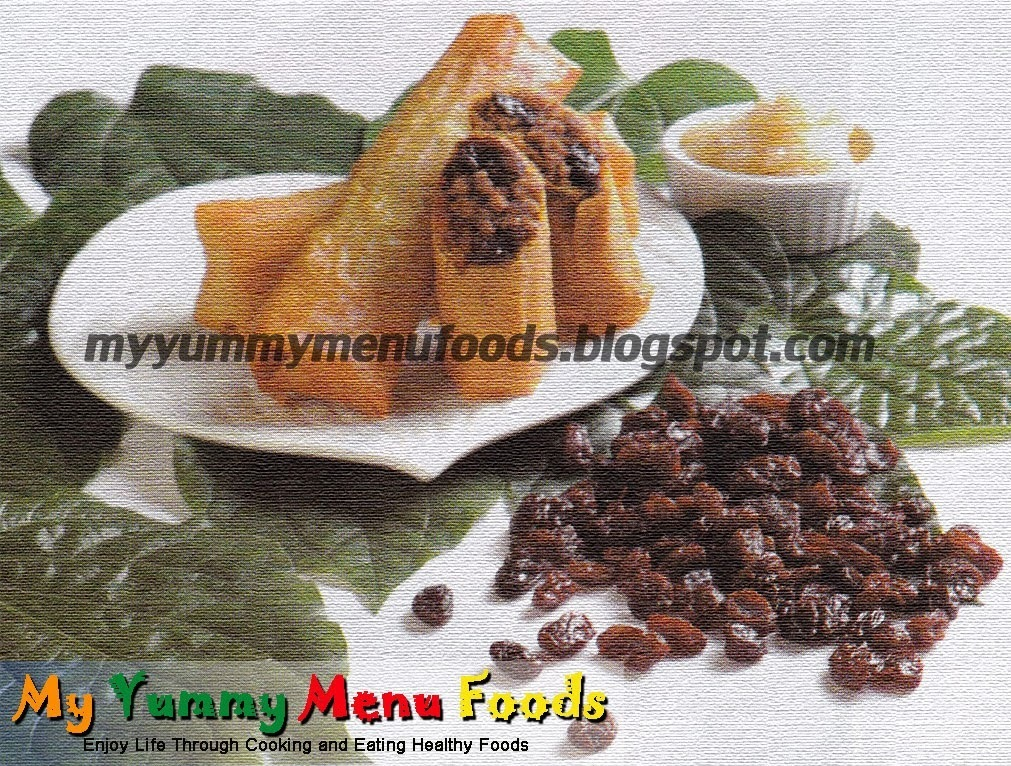 LUMPIANG BAKA WITH RAISINS
