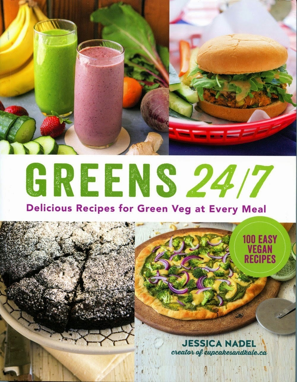 Greens 24/7: Delicious Recipes for Green Veg at Every Meal, Review and Giveaway.