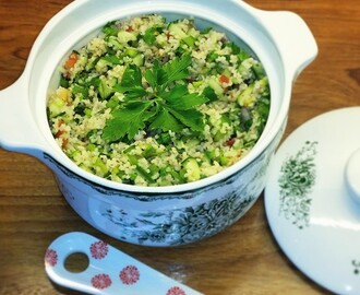 Tabouleh (burghul and parsley) salad
