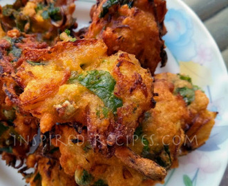 Spinach Lentil Fritters(Moong Dal Palak Vadas)