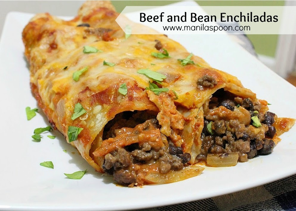 how to make chicken and bean enchiladas