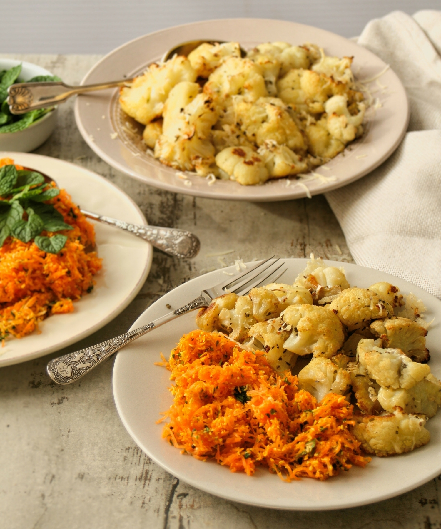 cupcakes-and-couscous wrote a new post, Two scrumptious sides - carrot salad and oven roasted cauliflower, on the site Cupcakes & Couscous
