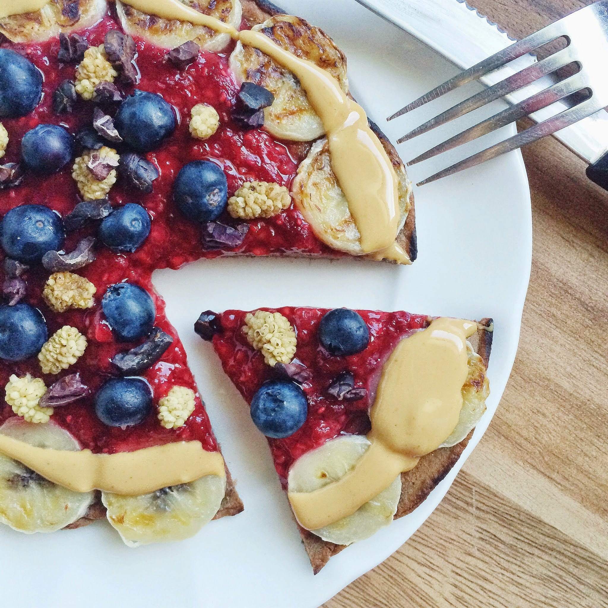 Sweet Cacao Maca Breakfast Pizza
