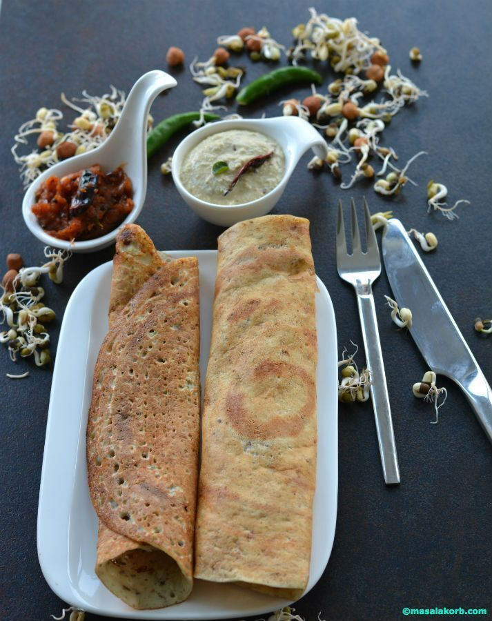 Mixed Sprouts Dosa Using Idli Dosa Batter