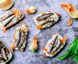 Gourmet Lemon Pepper Sardine Toasts With Ricotta