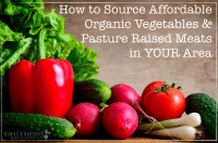 How to Source Affordable Organic Vegetables and Pasture Raised Meats in YOUR Area