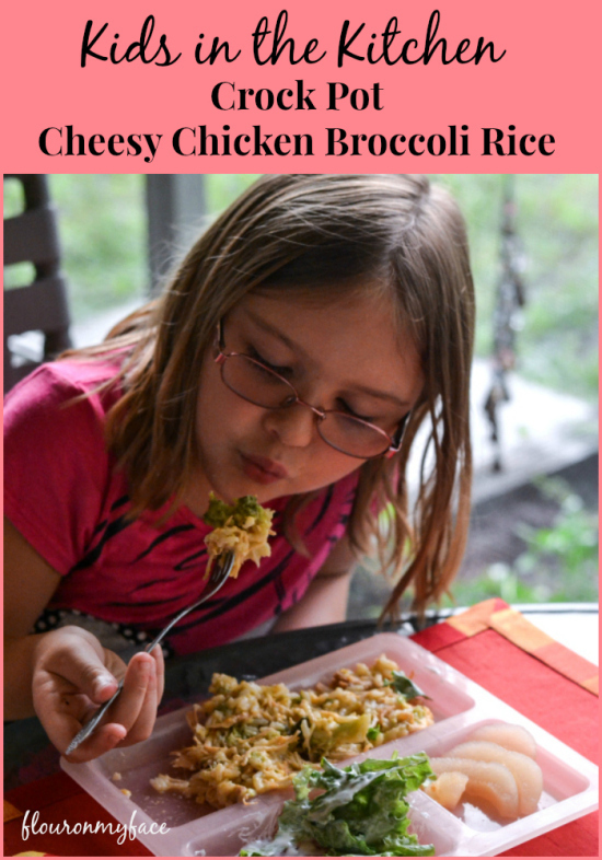 Crock Pot Cheesy Chicken Broccoli Rice | Kids in the Kitchen #BensBeginners