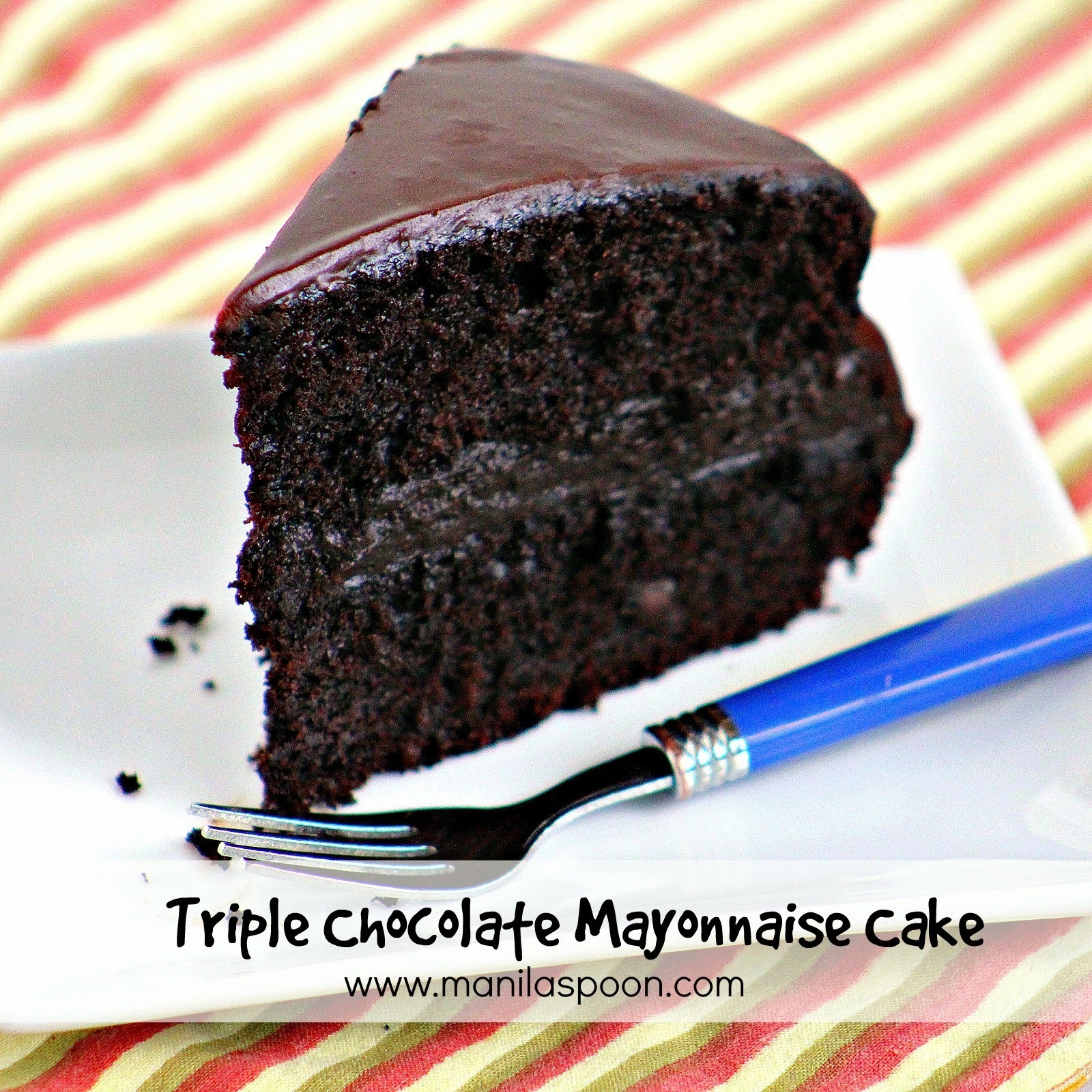 Triple Chocolate Mayonnaise Cake