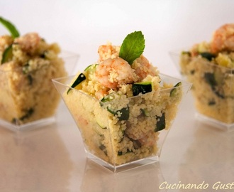 Cous Cous gamberetti e zucchine