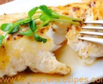 BAKED FRESH CODFISH WITH CHEESE SAUCE