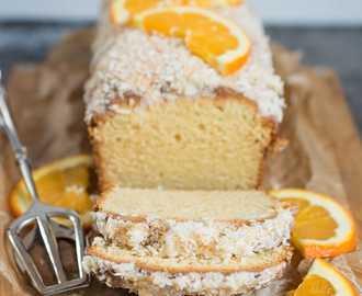 Einfacher Orangen-Kokos-Kuchen / Quick and easy orange cake with coconut