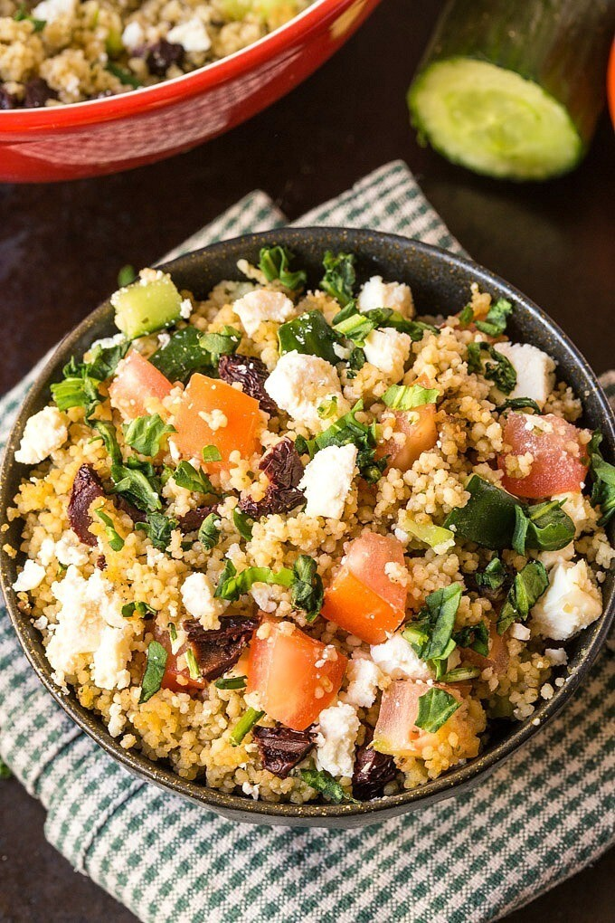 Healthy Greek Couscous Salad