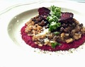 Baby Portabella Risotto with Beetroot Purée (GF)