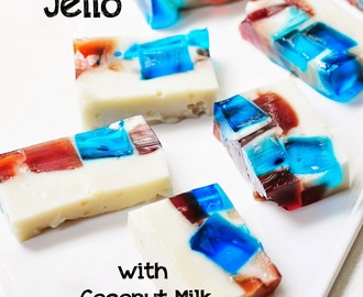 Stained Glass Jello with Coconut Milk Panna Cotta  #SundaySupper