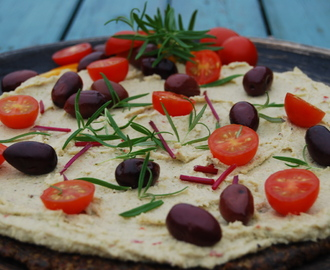 Raw Food pizza, 2-4 pers