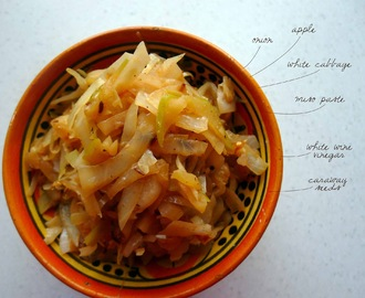 Miso Braised Cabbage