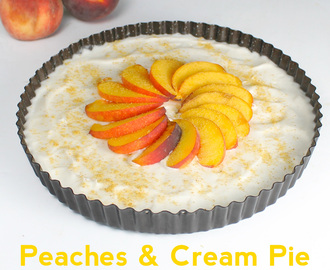Peaches & Cream Pie with Graham Cracker Curry Crust