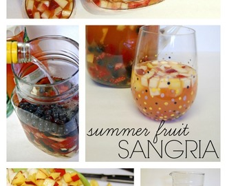 Red, White and Blue Summer Fruit Sangria