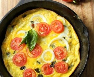 Paleo Frittata Recipe – Tomato Bacon and Fresh Herbs