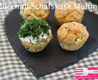 Zucchini Schafskäse Muffins (Sponsored Post)